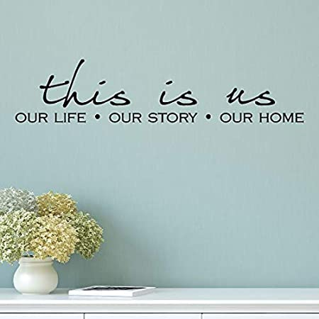 THIS IS US LIFE STORY HOME Vinyl Wall Decal Decor Words Decor Saying Quote 60/""