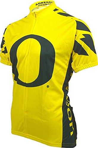 Oregon State Cycling Jersey (NCAA Oregon Cycling Jersey,Small, Green/Yellow)