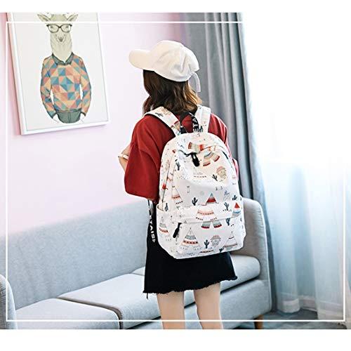 Commuter Capacidad Niñas Las Tamaño White A4 Gran La Mochila Escuela color Pink Secundaria De Estudiante Igspfbjn Ligero fqS8xwnP