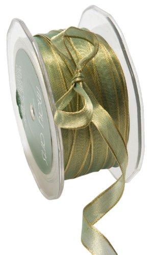 May Arts 3/8-Inch Wide Ribbon, Teal Iridescent Metallic by May Arts