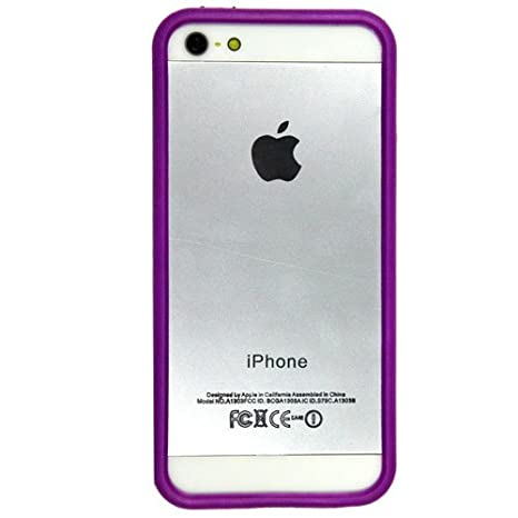 on sale 70dc2 e2966 Casotec Backless Bumper Case Cover for Apple iPhone 5 / 5S - Purple