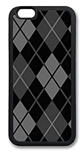 iphone 6 4.7inch Case and Cover Dark Argyle TPU Silicone Rubber Case Cover for iphone 6 4.7inch Black by ruishername