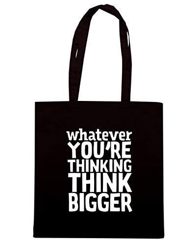 Speed Shirt Borsa Shopper Nera CIT0228 THINK BIGGER