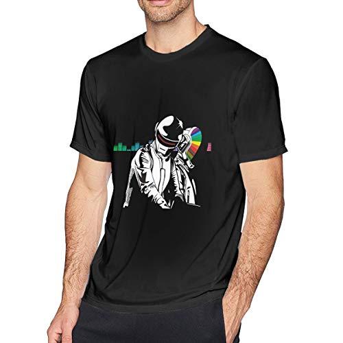 Punk Art T-shirt - FashionCotton Men's Short Sleeve T-Shirt Daft Punk Art Round Neck Short Sleeve T-Shirt Black