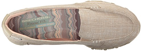 Skechers Bikers Donna-Yacht Spot Slip-on Loafer, Naturale