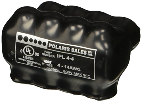 Polaris Insulated Multi-Tap Connector 4 Port (Single Sided Entry) 4-14 AWG- Bagged -  NSi Industries, IPL4-4B