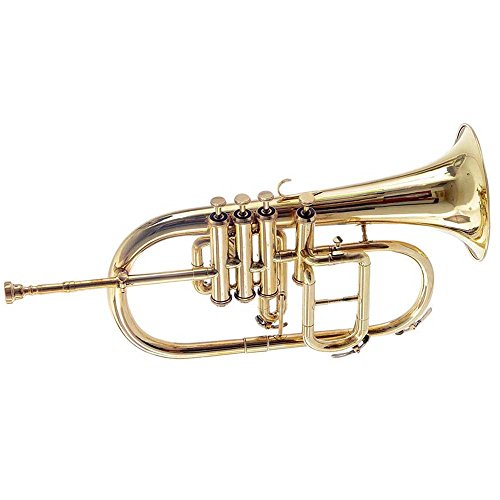 Shreyas Flugel Horn Bb 4 Valve (Brass) With Case + Mouthpiece