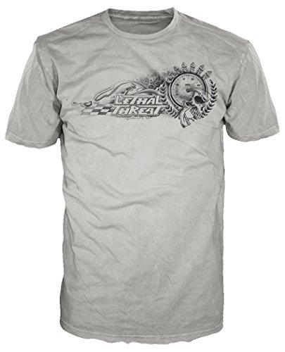 Lethal Threat (LT20231M Men's Redline Skull T-Shirt (Black, -