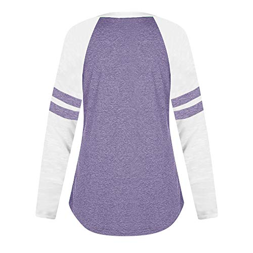 Violet Chemisier Shirts Sexy Causal Blouse Manche Chic Chat Femme De Tops Sport Jacket Longues Imprim Ladies Amples rwraOS