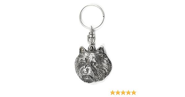 dog keyring and necklace in casket Norfolk Terrier ArtDog ELEGANCE set NEW limited edition Dog keyring for dog lovers