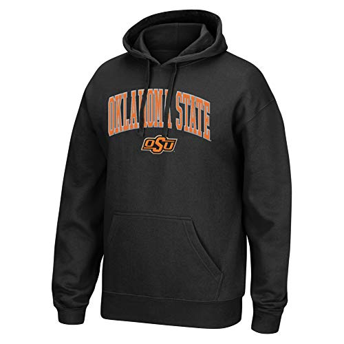 Top of the World NCAA Men's Oklahoma State Cowboys Applique Arch Over Hoodie Black Medium