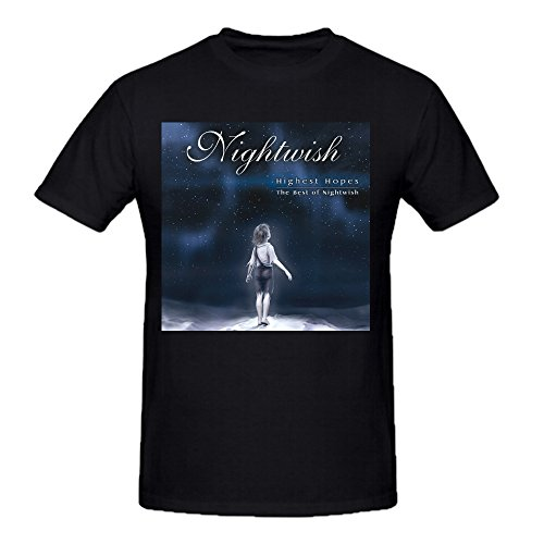 Nightwish Highest Hopes Best Of Nightwish Funny Soft O Tee Shirts For Mens Black (Highest Hopes The Best Of Nightwish)