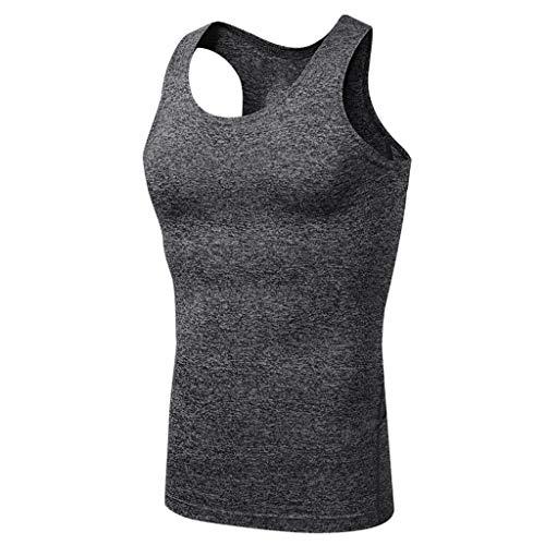 Yucode Men Elastic Fast-Drying Tight Garment Training Air-Permeable Vest Top