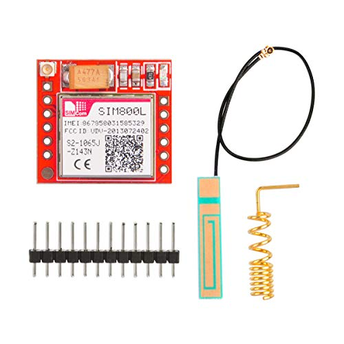 Gowoops SIM800L GPRS GSM Breakout Module Quad-Band 850/900/1800/1900MHz SIM Card Slot Onboard with Antenna 3.7~4.2V