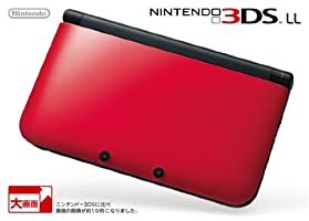 Nintendo 3DS LL Portable Video Game Console - Red & Black - Japanese Version (only plays Japanese version 3DS games)