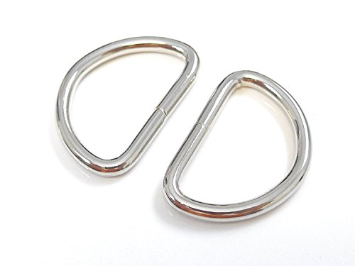 TSJ 50 CT Heavy Duty Metal D-Rings 3/4 Inch Non Welded D Rings for Sewing, Belts, Dog Leash & Keychains