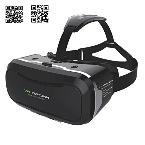 Tepoinn 3D Virtual Reality Headset for Smartphone Up to 6 Inch, Second Version