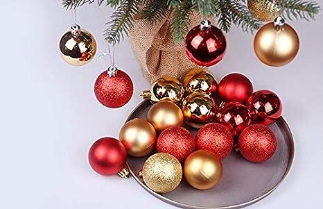 Gysad 24 piezas Peque/ño y lindo Bolas de navidad originales DIY Navidad decoracion arbol M/últiples colores para elegir Bolas de navidad #1