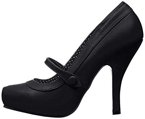 Cutiepie Mujer De Zapatos Pleaser bpu Negro black Tacón 02 6pqwdUYndF