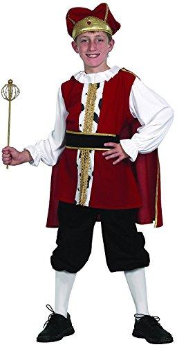 König Kostüm Kinder - elegantes Kinderkostüm König für Jungen (110/116)