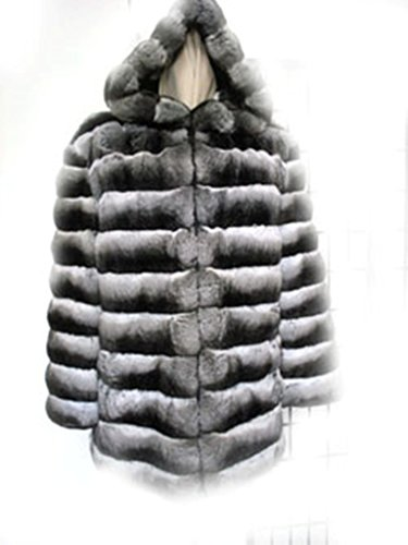 Oliverfurs mens ranched empress chinchilla Fur Jacket coat hood size all Chinchilla Coats Men