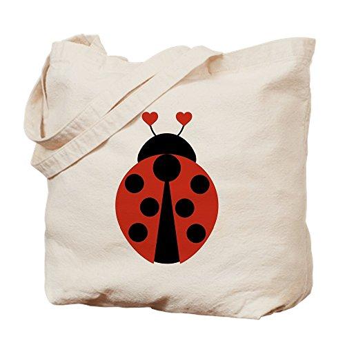 CafePress Lady Bug Natural Canvas Tote Bag, Cloth Shopping Bag