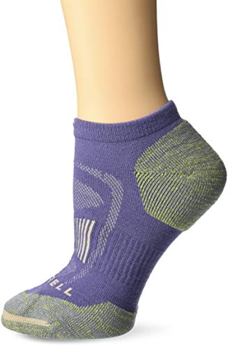 Merrell Women's 1 Pack Cushioned Zoned Light Hiker (Low/Quarter/Crew Cut Socks), Violet Morning (Low Cut), Shoe Size: 4-9.5