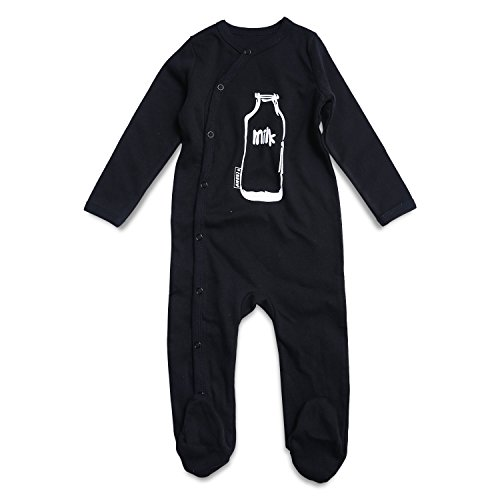 - OPAWO Black Baby Boy Footed Pajama Long Sleeve Sleeper 0-3 Months