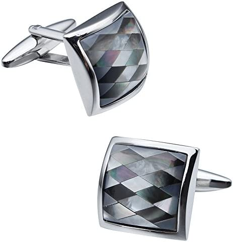 Precious Mother of Pearl Cufflinks for Manシャツウェディング袖口ボタン
