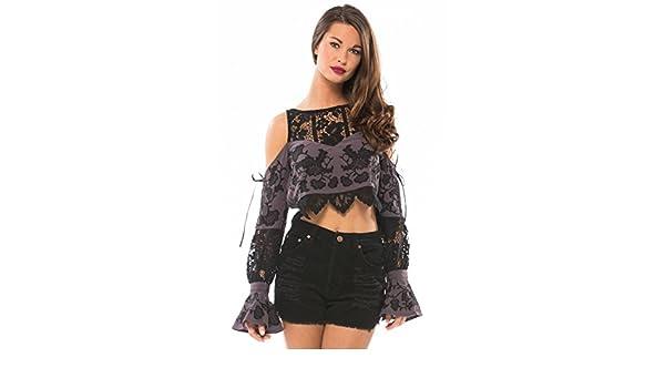 24afc3f7a3d9cd Amazon.com  For Love   Lemons Cecilia Crop Top (S)  Clothing