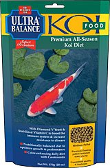Ultra Balance All Season Koi Fish Food - 40 lbs. (Medium Pellet) with Exclusive BONUS Promotional Magnet Calendar by Ultra