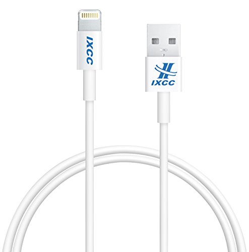 [Apple MFI Certified] iXCC  Lightning Cable 3ft (Three Feet) Element Series 8 pin to USB SYNC Cable Charger Cord for Apple iPhone 5  5s  5c  6  6 Plus iPod 7 iPad Mini  mini 2 mini 3 iPad 4  iPad Air  iPad Air 2(Compatible with iOS 8) [White]