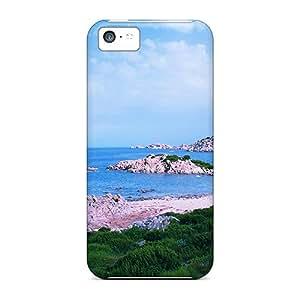 For Iphone 5c Fashion Design Rocky Shore In Olbia Sardinia Case-coT2433iKtL