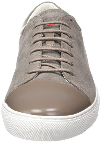 HUGO Casualfut_tenn_sd 10195390 01, Scarpe da Ginnastica Basse Uomo, Grigio (Medium Grey), EU