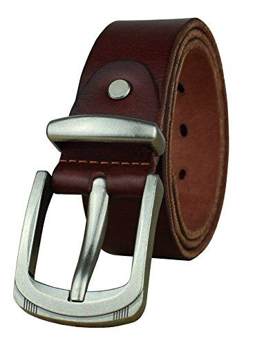 Heepliday Mens Leather Belt Full Grain Vintage Distressed Casual Jeans Belt 1 1/2