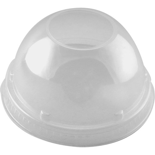 (Dart 16LCDH Clear Dome Lid With Hole (Case of 1000) )