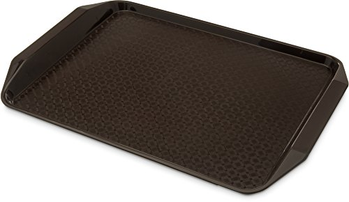 Carlisle CT121769 Cafe Handled Plastic Cafeteria/Fast Food Tray, NSF Certified, BPA Free, 17
