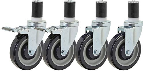 Food Prep Table Casters Set of 4   5