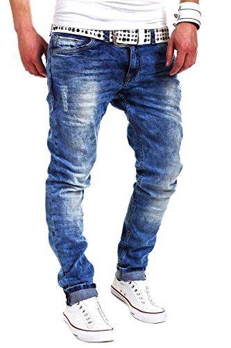 MT Styles Jeans Slim Fit RJ-2001 [Blau, W32/L32]