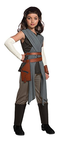 Jedi Costume Girl - Rubie's Star Wars Episode VIII: The Last Jedi, Child's Deluxe Rey Costume, Large