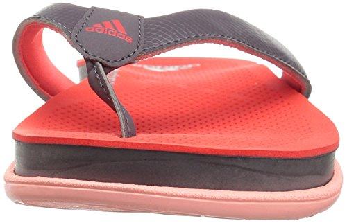 Adidas Donna Cloudfoam Plus Y Sandali Da Scivolo Sportivi Traccia Grigio Traccia Grigio Facile Corallo S