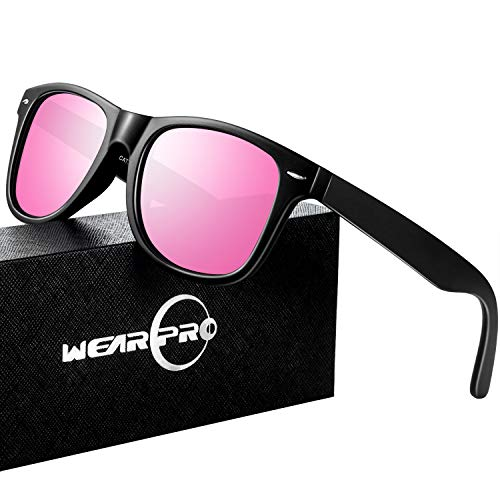 Lens Sunglasses Pink - Mens Sunglasses for Men Vintage Polarized Sun Glasses WP1001(bright/pink)