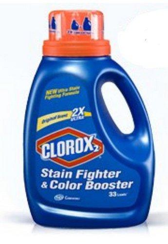 Clorox 30037 Liquid Concentrated Bleach, Regular Fragrance, 33 fl oz Bottle