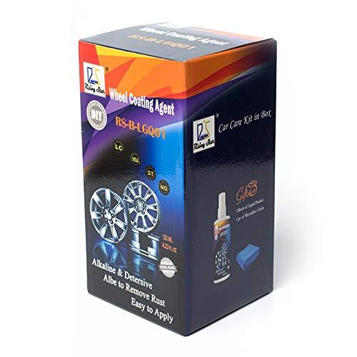 Rising Star LGQ01 Car Rim Hub Washing and Cleaning Car Rim Care Cleaner Wheel Coating Agent 125Ml Kit for DIY Users