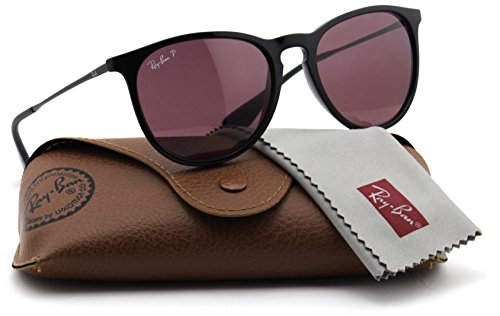 Ray-Ban RB4171 601/5Q Erica Sunglasses Black Frame / Polarized Purple - Erika Model Ban Ray