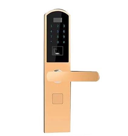 RSTJ-Sjfp Biométrico Cerraduras De Huellas Dactilares + Semiconductor Digital + Pantalla Táctil Antirrobo Seguridad