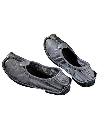 Zapatos Chícharos Para Mujeres Gris Hecho Youlee Mano Cuero A Primavera O4SFXSqxY