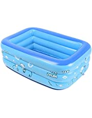 Inflatable Paddling Pool for Adults and Kid, Family Swim Center Inflatable Pools Family Fun Lounge Pool