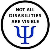 NOT ALL DISABILITIES ARE VISIBLE Black Rim Service Dog 2.5 inch Sew-on Patch