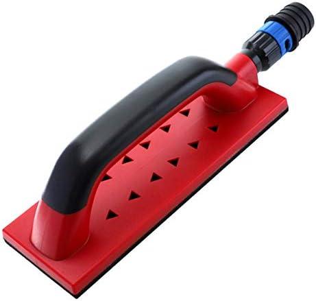ハンドサンディングブロックポータブル抽出洗浄研削多目的研磨サンダーダストフリー研磨ツール-レッド&ブラック